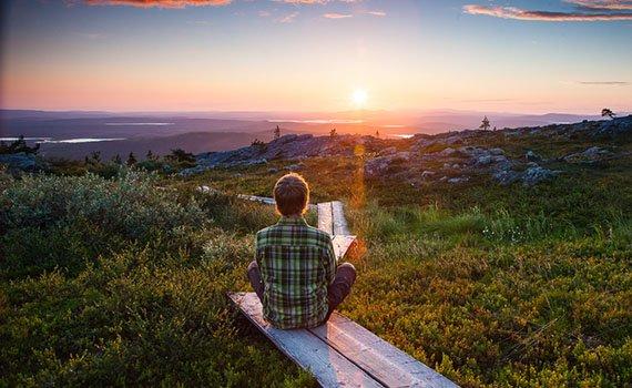 Sfeerimpressie Middernachtzonreis Lapland fly & drive