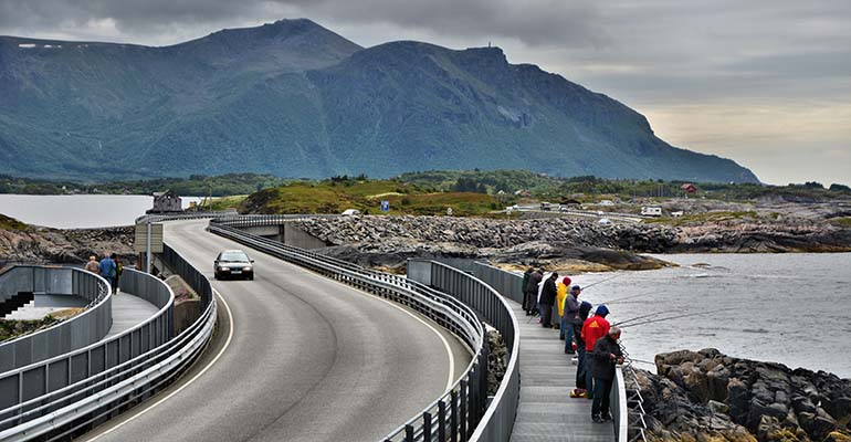 Atlantic Road Noorwegen