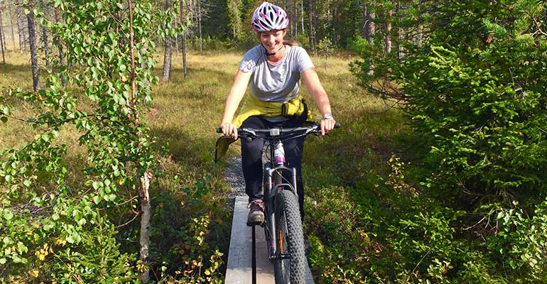 Mountainbiken in Fins Lapland