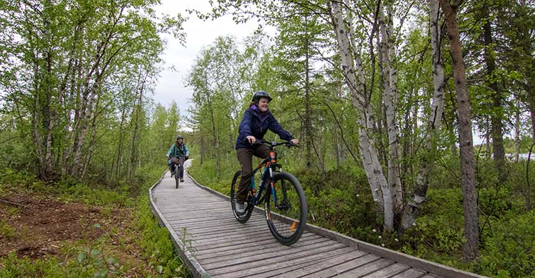 Mountainbiken in Zweeds Lapland